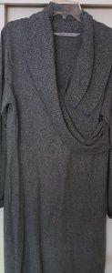 Athletes XL surplice wrap sweater dress